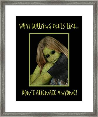 Bully Framed Print by Karen Walzer