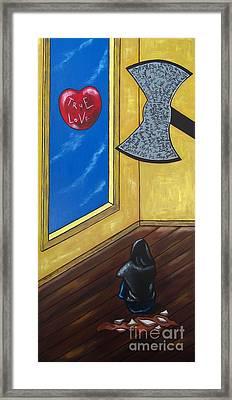 Bully Framed Print by Sandra Marie Adams