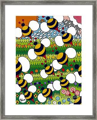 Bumble Framed Print by Rojax Art