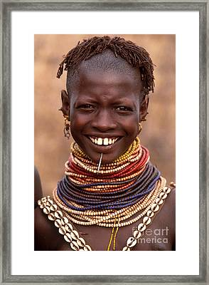 Bumi Woman Ethiopia Framed Print by Art Wolfe