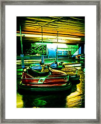 Bumper Cars Framed Print by Colleen Kammerer