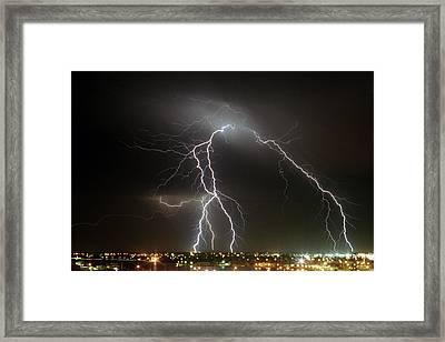Bunbury Lightning Framed Print