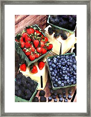 Bunch Of Berry Boxes Framed Print