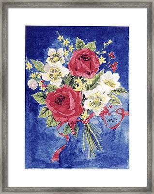 Bunch Of Flowers Framed Print by Alban Dizdari