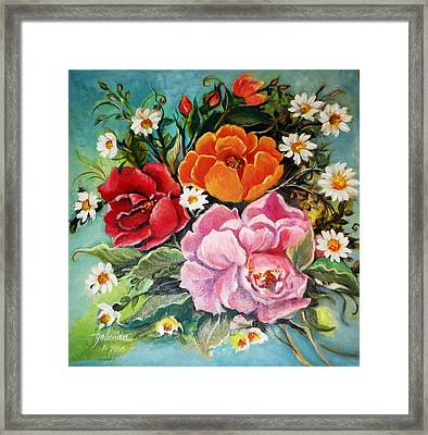 Bunch Of Flowers Framed Print
