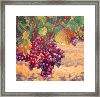 Bunch Of Grapes Framed Print by Carolyn Jarvis