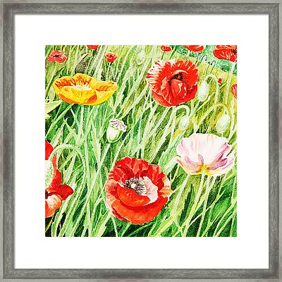 Bunch Of Poppies I Framed Print