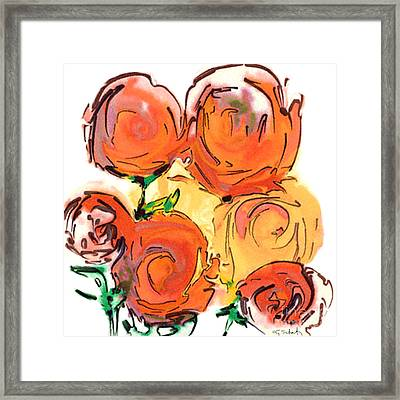 Bunch Of Roses Framed Print by Gabrielle Schertz