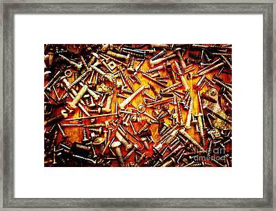 Bunch Of Screws 4 - Digital Effect Framed Print by Debbie Portwood
