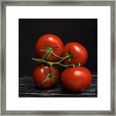 Bunch Of Tomatoes. Framed Print by Bernard Jaubert