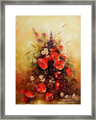 Bunch Of Wildflowers Framed Print by Petrica Sincu