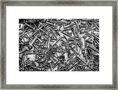 Bunch Screws 2 - Digital Effect Framed Print by Debbie Portwood