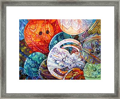 Bunches Of Buttons Framed Print by Wendy Westlake