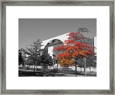 Framed Print featuring the photograph Bundeskanzleramt Chancellor's Office by Art Photography