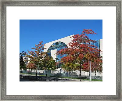 Framed Print featuring the photograph Bundeskanzleramt Federal Chanellery by Art Photography