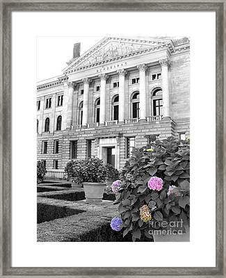 Framed Print featuring the photograph Bundesrat Germany by Art Photography