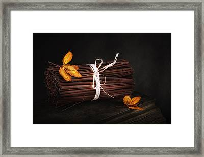 Bundle Of Sticks Still Life Framed Print by Tom Mc Nemar