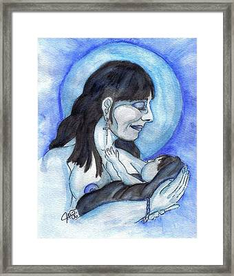 Framed Print featuring the painting Bundled by The GYPSY And DEBBIE