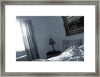 Bungalow Bedroom Framed Print