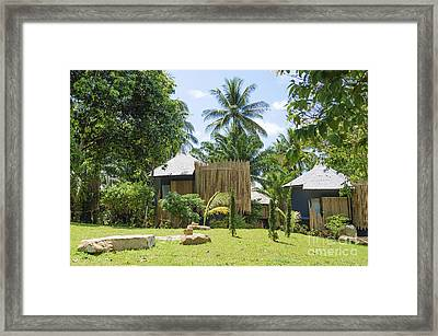 Bungalows In Tropical Resort Asia Framed Print