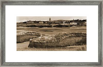 Framed Print featuring the photograph Bunker At St. Andrews Old Course Scotland by Sally Ross