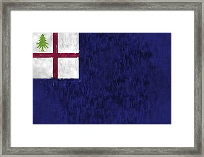 Bunker Hill Flag Framed Print by World Art Prints And Designs