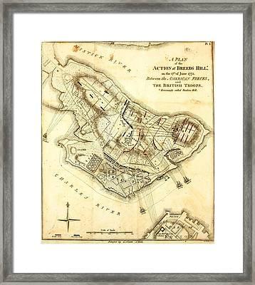 Bunker Hill - Map Framed Print