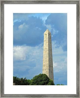 Bunker Hill Monument Framed Print by Barbara McDevitt