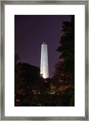 Bunker Hill Monument - Boston Framed Print by Joann Vitali