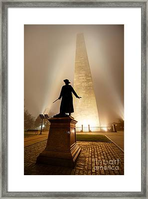 Bunker Hill Monument  Framed Print by Denis Tangney Jr