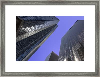 Bunker Hill Skyscrapers Framed Print