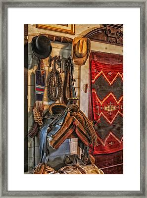 Bunkhouse Gear - Texas Framed Print by Mountain Dreams