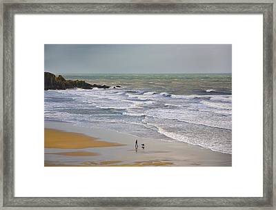 Bunmahon Strand, The Copper Coast Framed Print by Panoramic Images