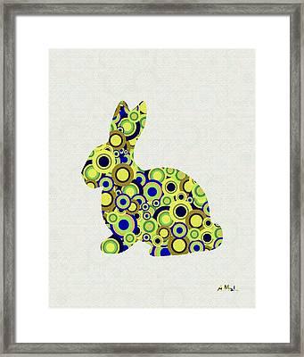 Bunny - Animal Art Framed Print by Anastasiya Malakhova