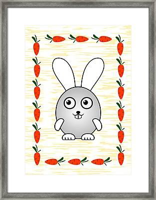Bunny - Animals - Art For Kids Framed Print by Anastasiya Malakhova