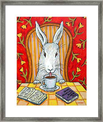 Bunny At The Cafe Framed Print by Jay  Schmetz
