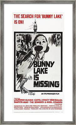 Bunny Lake Is Missing, Us Poster Framed Print by Everett