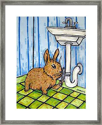 Bunny Plumber Framed Print by Jay  Schmetz