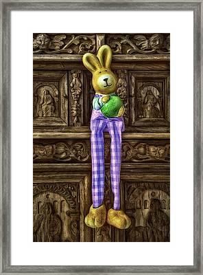 Bunny Rabbit - Shelf Sitter Framed Print by Gynt