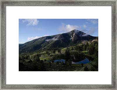 Framed Print featuring the photograph Bunsen Peak Reflection by Gary Wightman