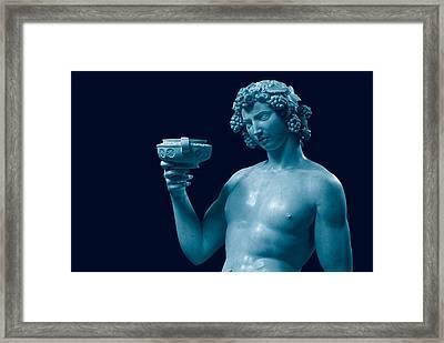 Buonarroti Michelangelo, Bacchus, 1496 Framed Print by Everett