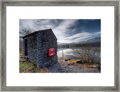 Buoy At Lake Framed Print by Adrian Evans