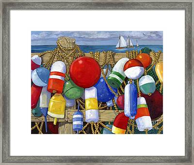 Buoy Composition Framed Print by Paul Brent