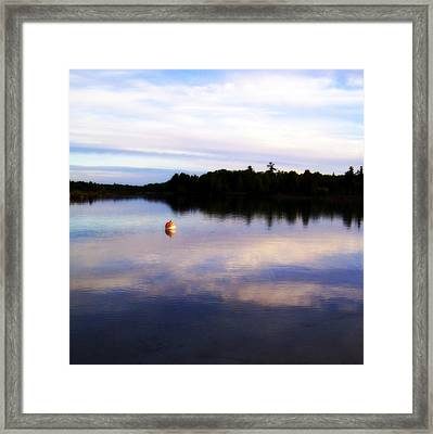 Buoy On The Torch Bayou Framed Print