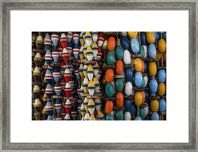 Buoys Framed Print by Debra and Dave Vanderlaan