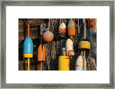 Buoys Framed Print by Juergen Roth