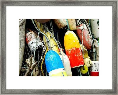 Buoys Framed Print by Mamie Gunning