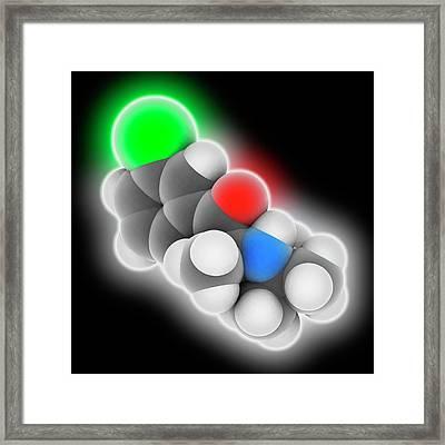 Bupropion Drug Molecule Framed Print by Laguna Design