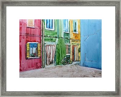 Burano Framed Print by Anna Ruzsan