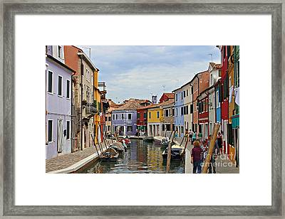 Framed Print featuring the photograph Burano Island by Cendrine Marrouat